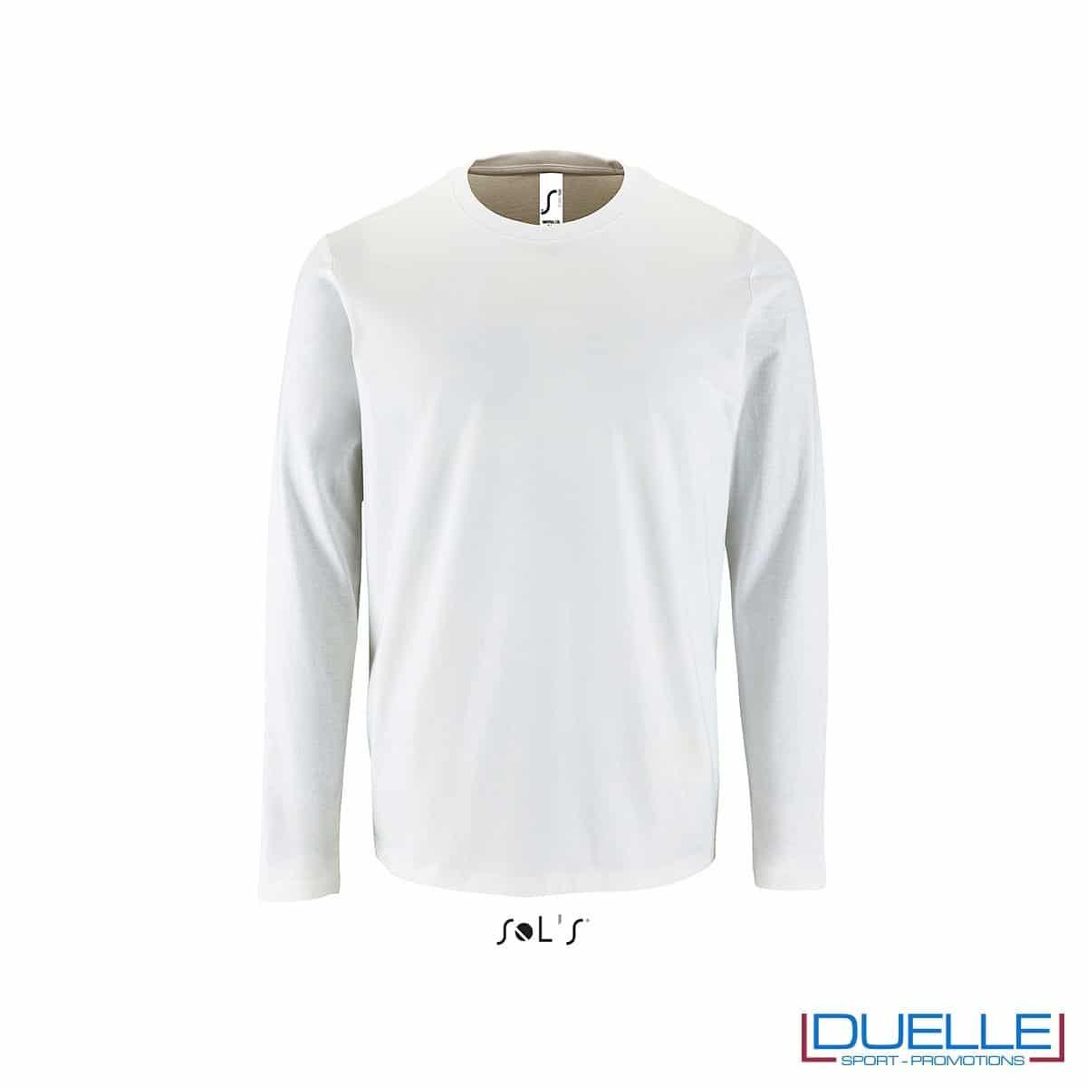 T-shirt manica lunga uomo personalizzata colore bianco