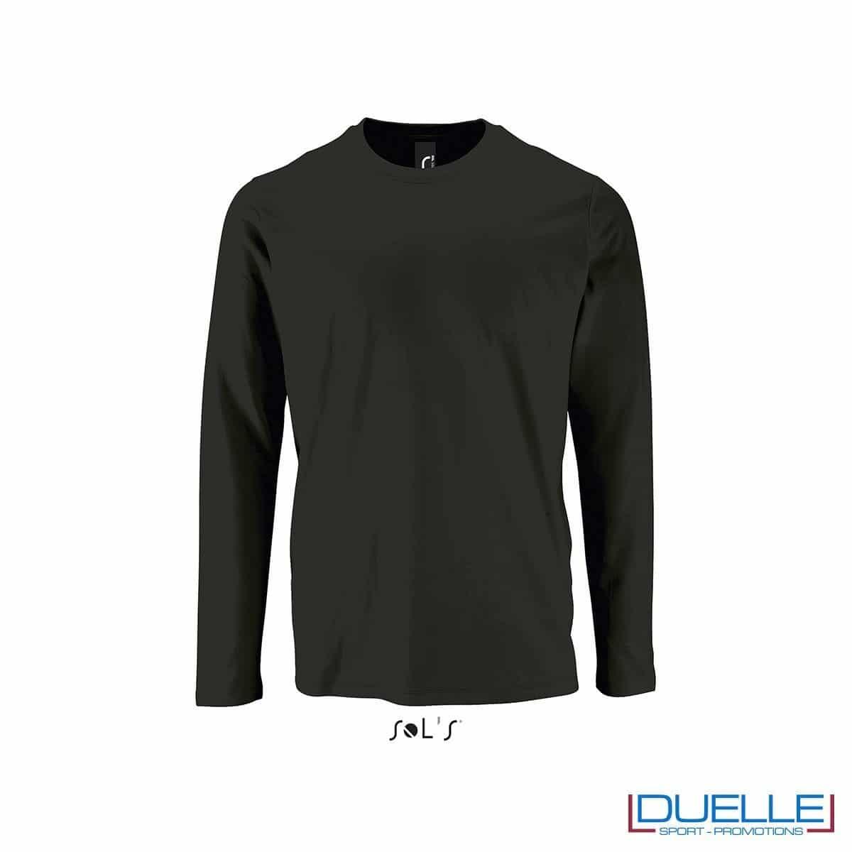 Maglietta manica lunga uomo personalizzata colore nero