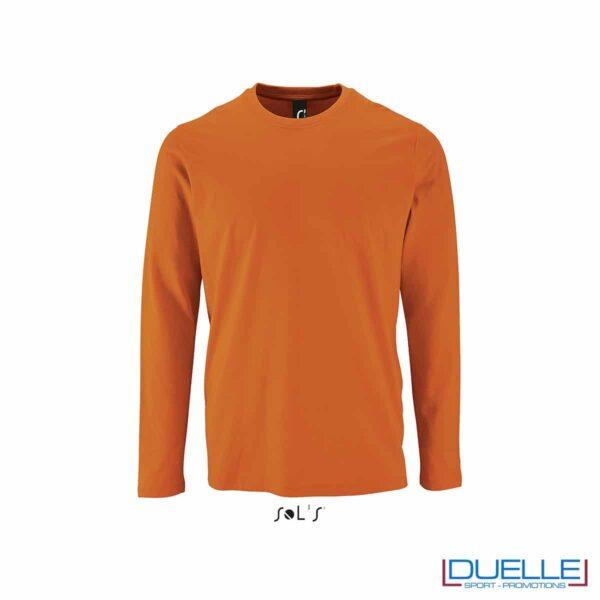T-shirt manica lunga uomo personalizzata colore arancione