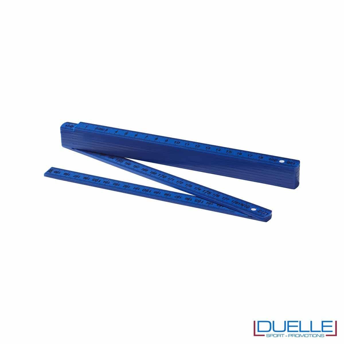 Metro rigido pieghevole personalizzato colore blu