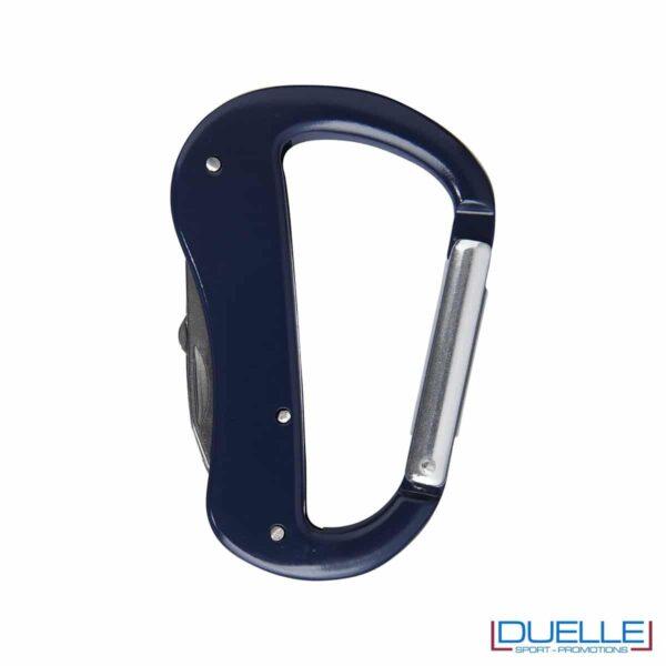 Coltellino con moschettone personalizzato colore blu navy