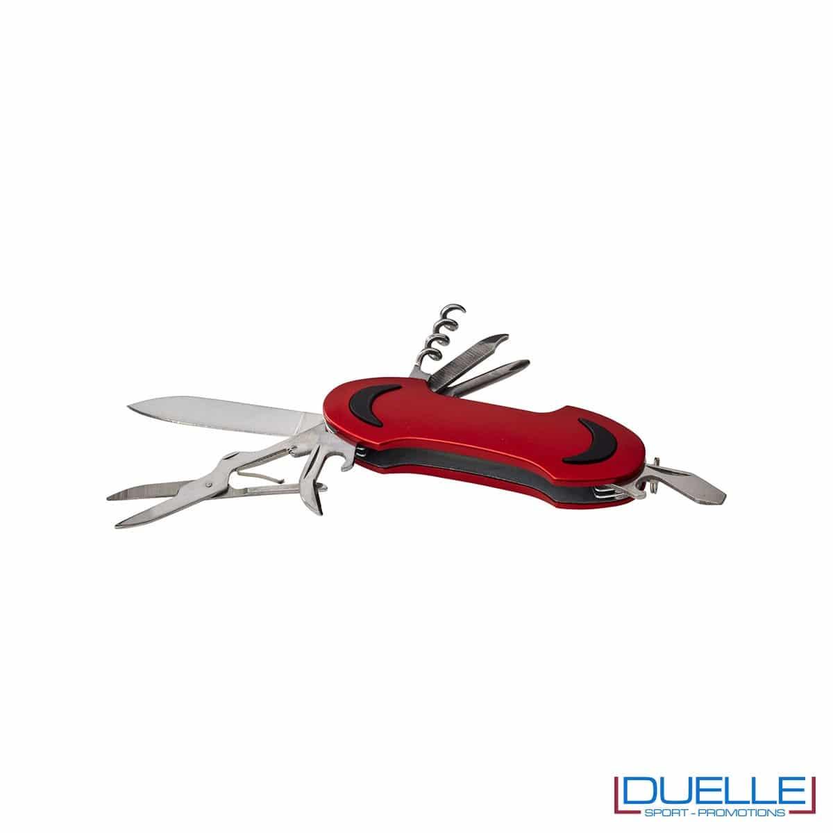 Coltellino tascabile 10 funzioni personalizzato colore rosso