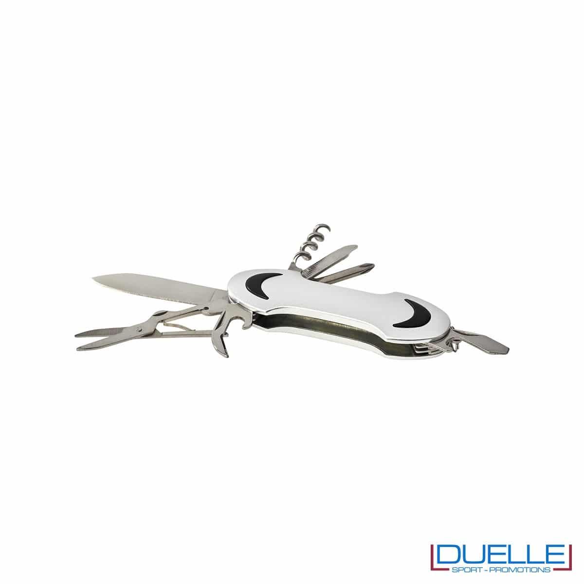 Coltellino tascabile 10 funzioni personalizzato colore argento