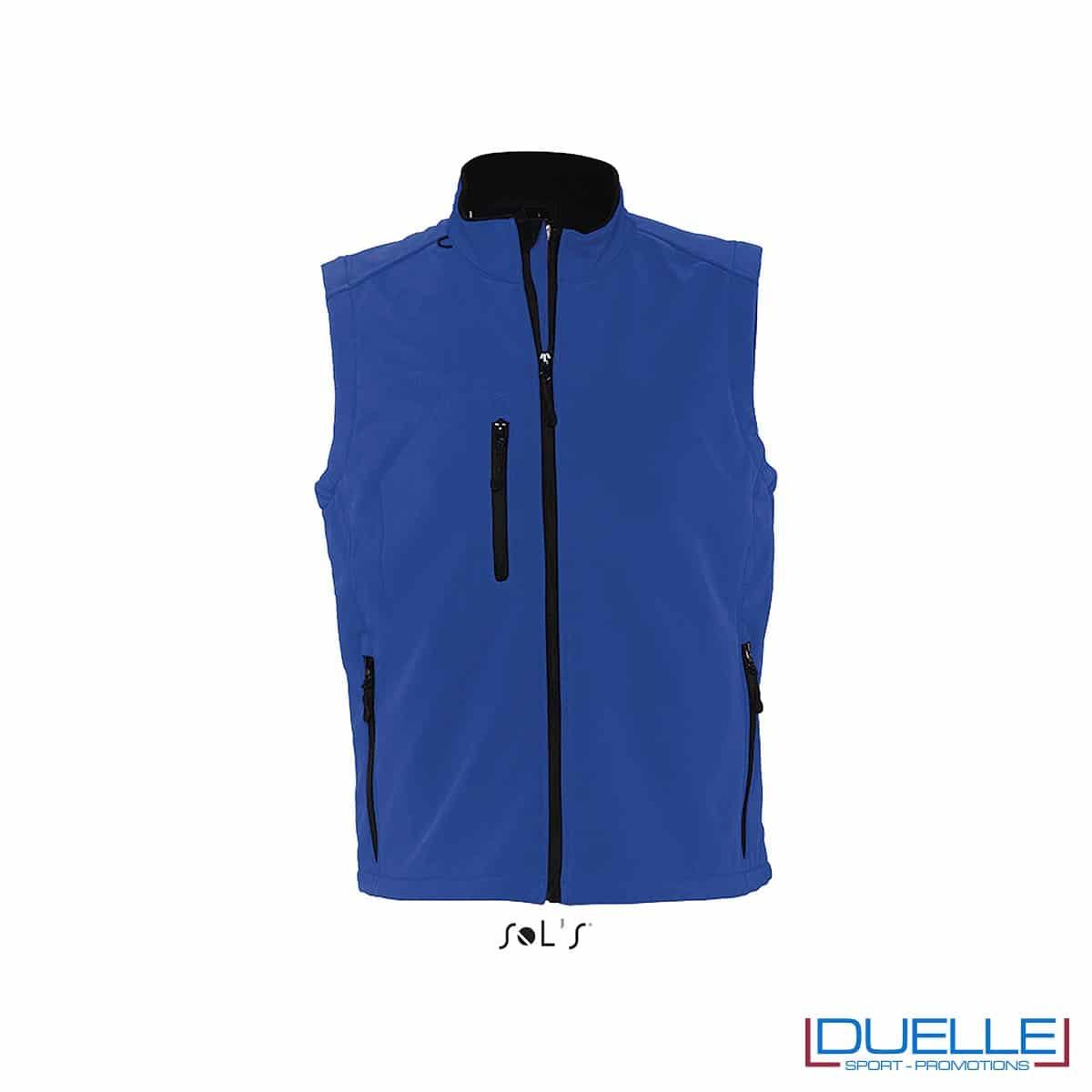 Gilet personalizzato softshell uomo colore blu royal