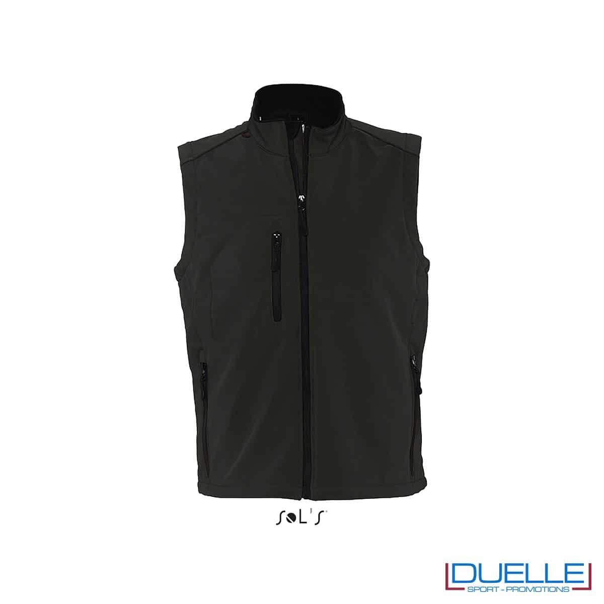 Gilet softshell colore nero personalizzato