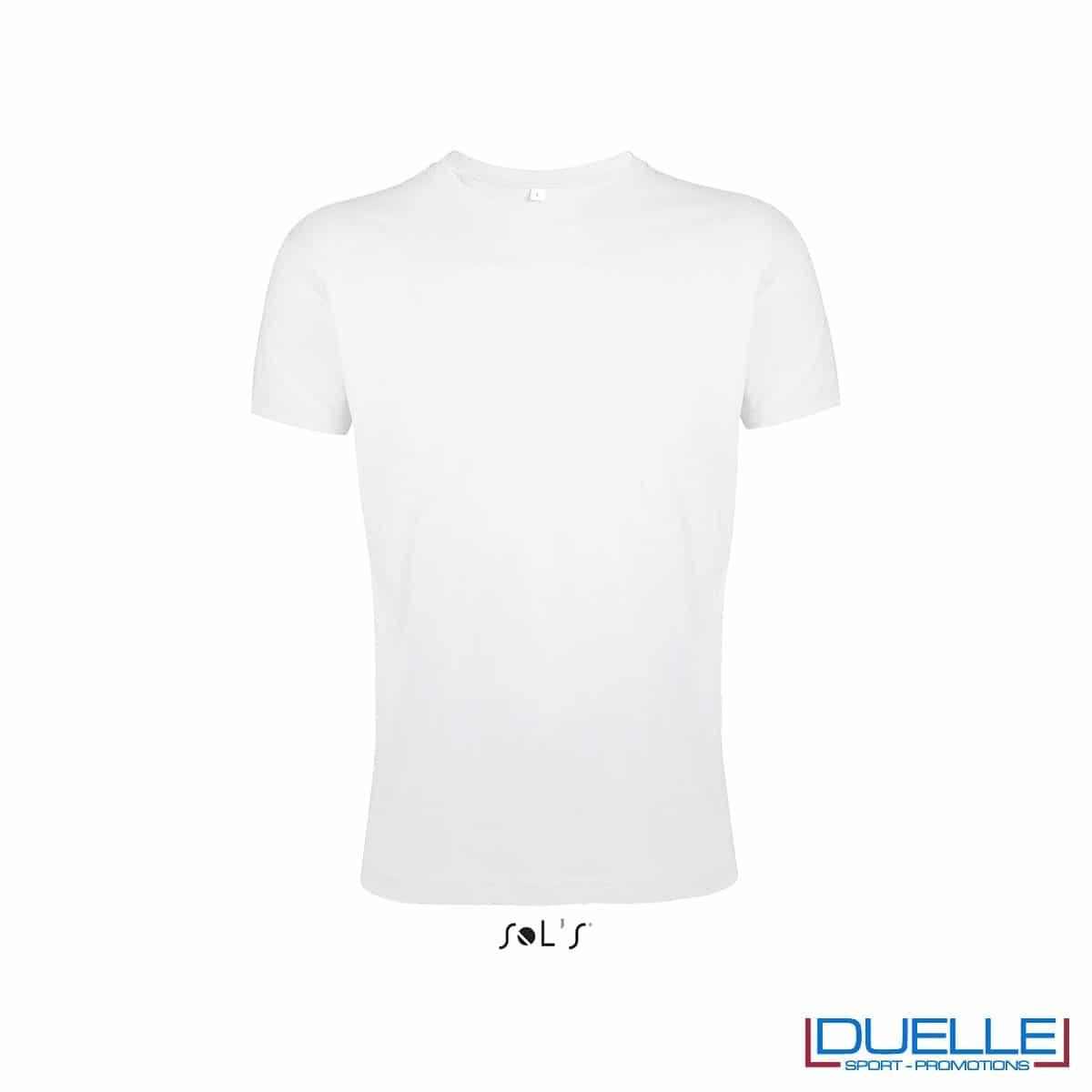 T-shirt girocollo personalizzata slim-fit colore bianco