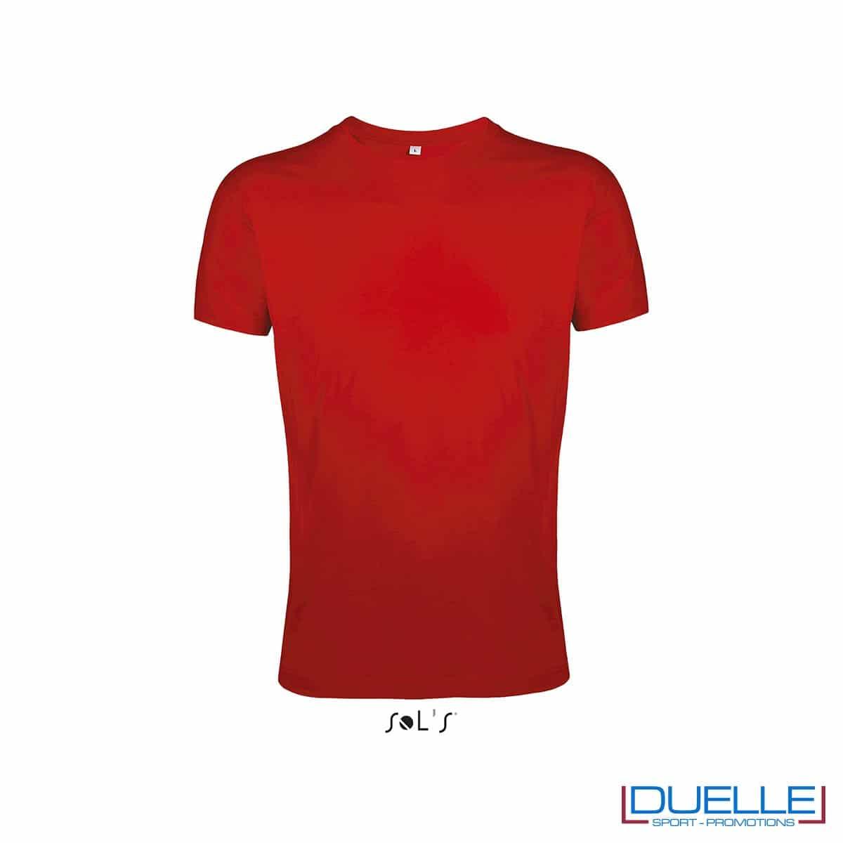 T-shirt uomo personalizzata slim-fit girocollo colore rosso