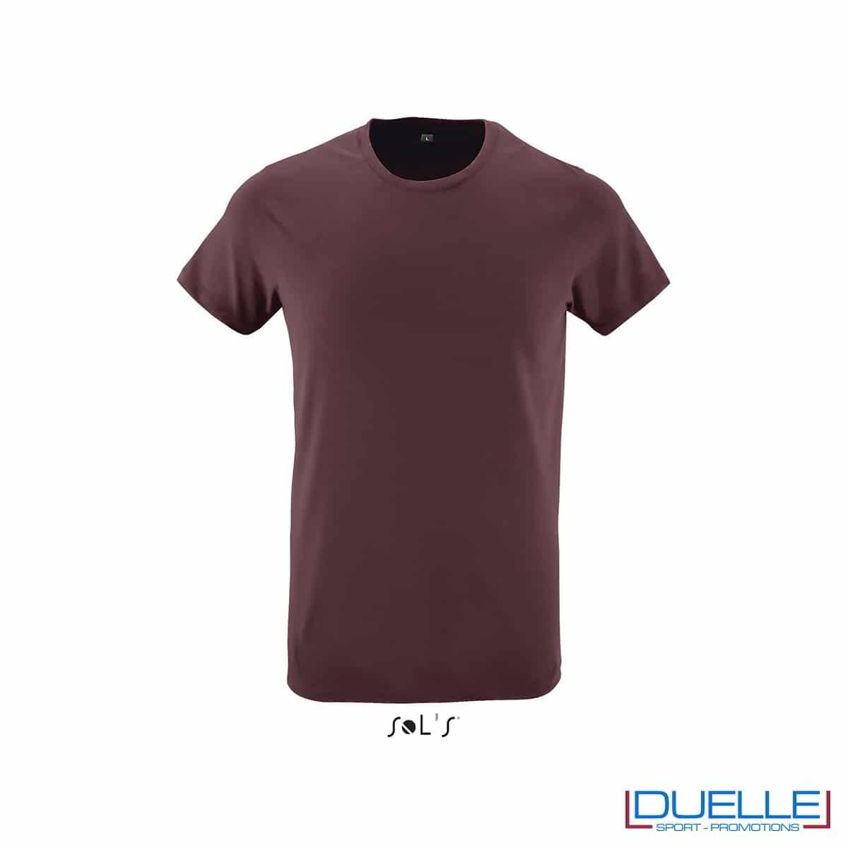 T-shirt girocollo personalizzata slim-fit colore bordeaux