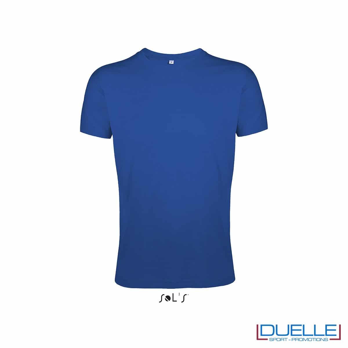 T-shirt girocollo personalizzata slim-fit colore blu royal