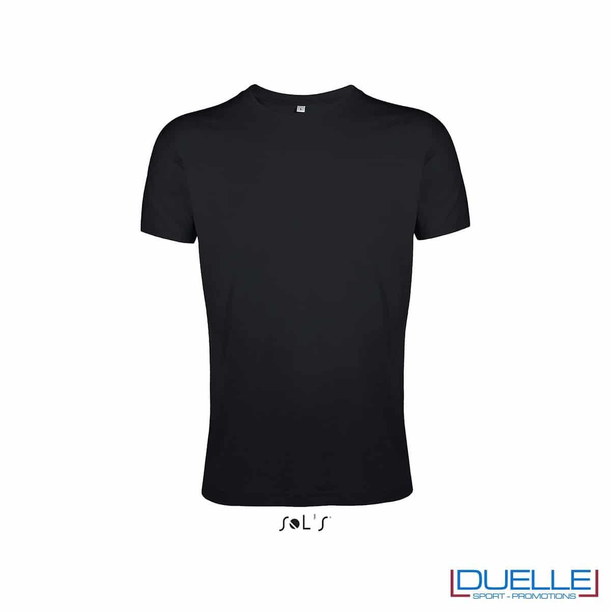 Maglietta uomo personalizzata slim-fit girocollo colore nero