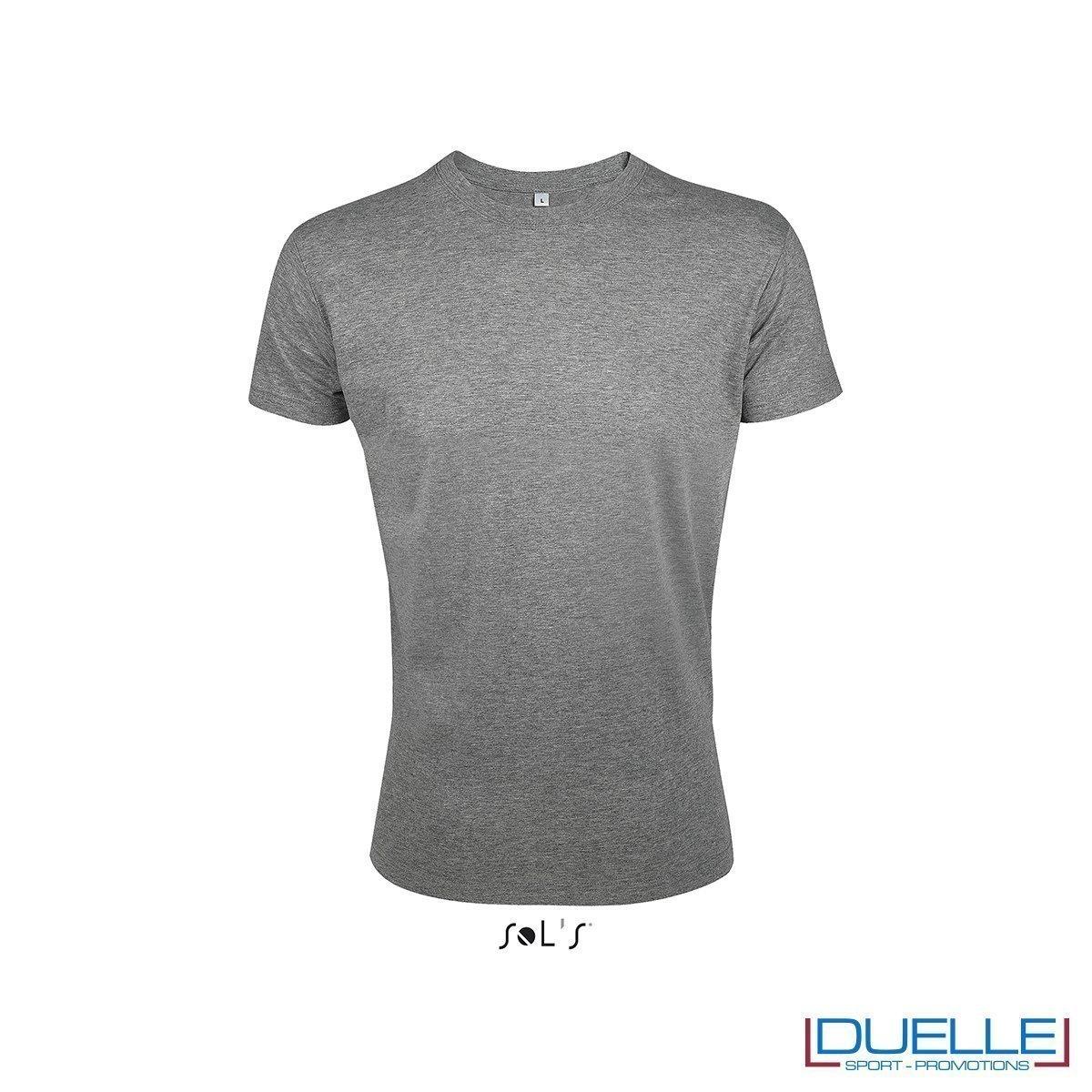 T-shirt uomo personalizzata slim-fit girocollo colore grigio antracite