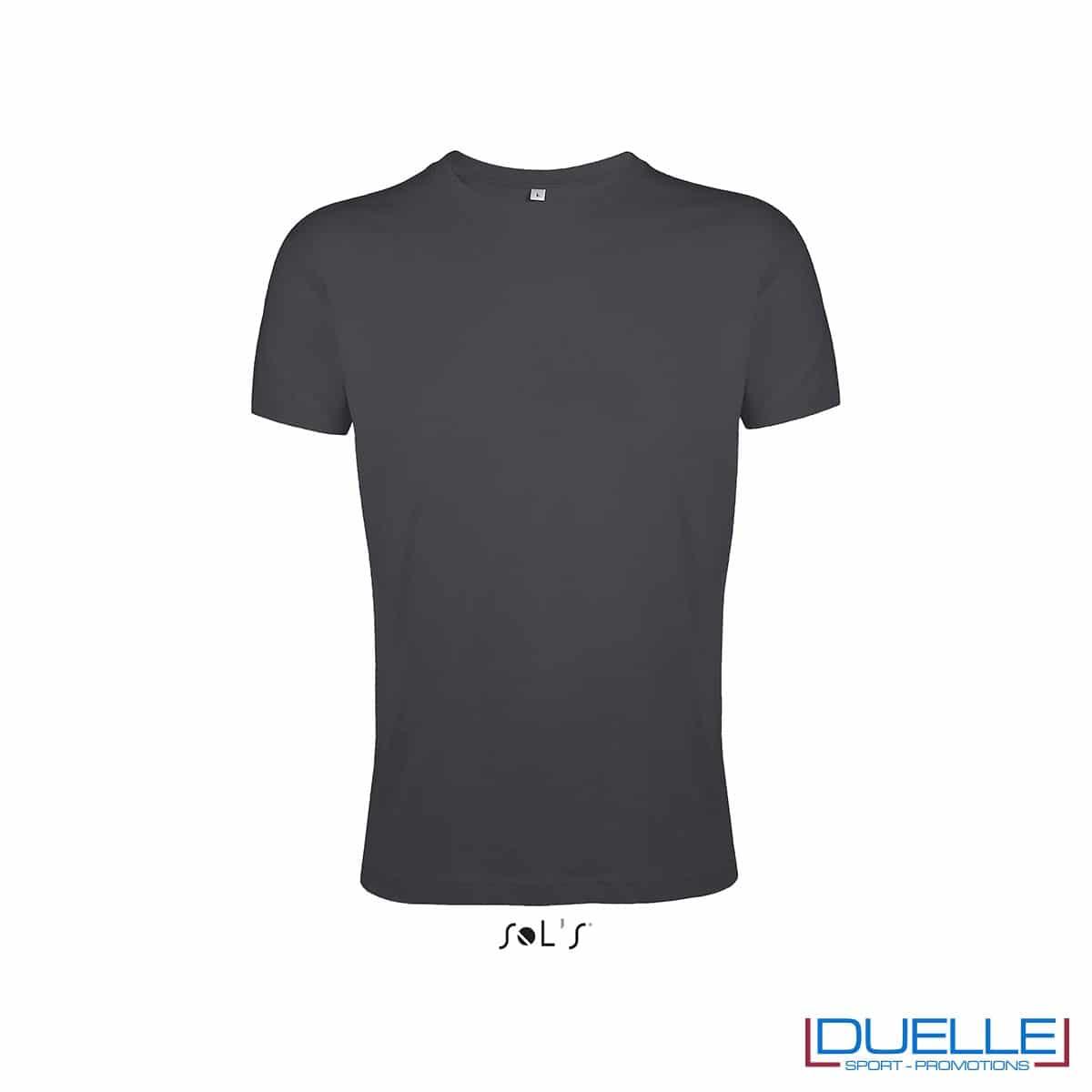 Maglietta uomo personalizzata slim-fit girocollo colore grigio scuro