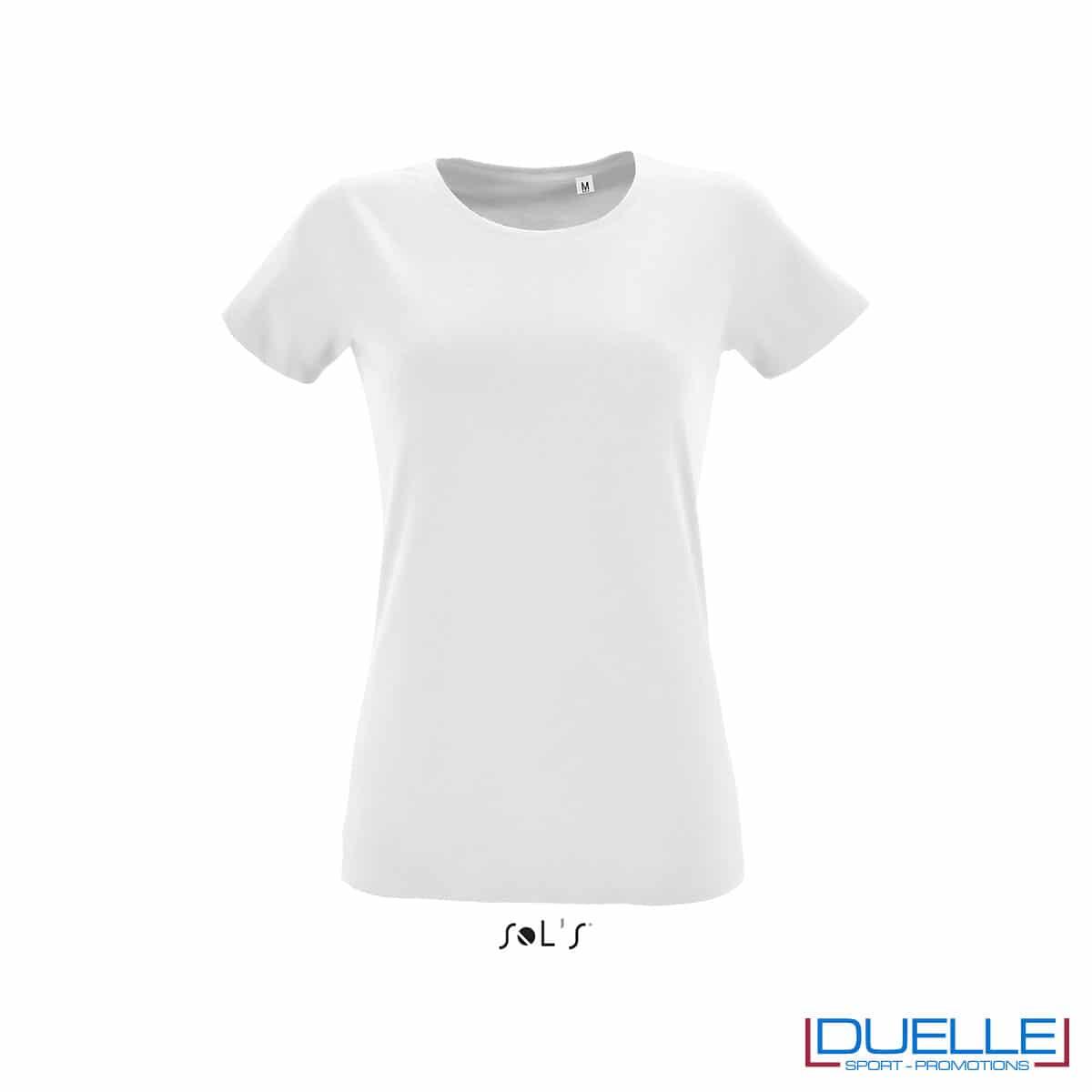 maglietta bianca slim fit donna