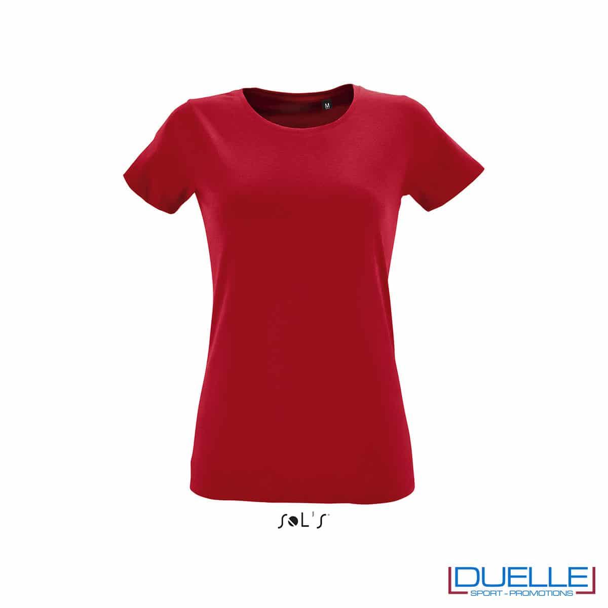 maglietta rossa fit donna