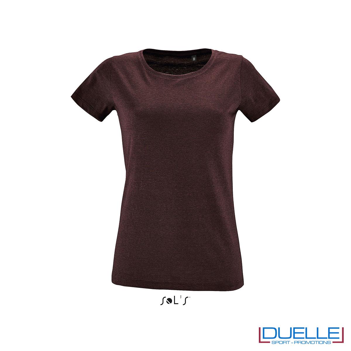 maglia rosso borgogna melange fit donna