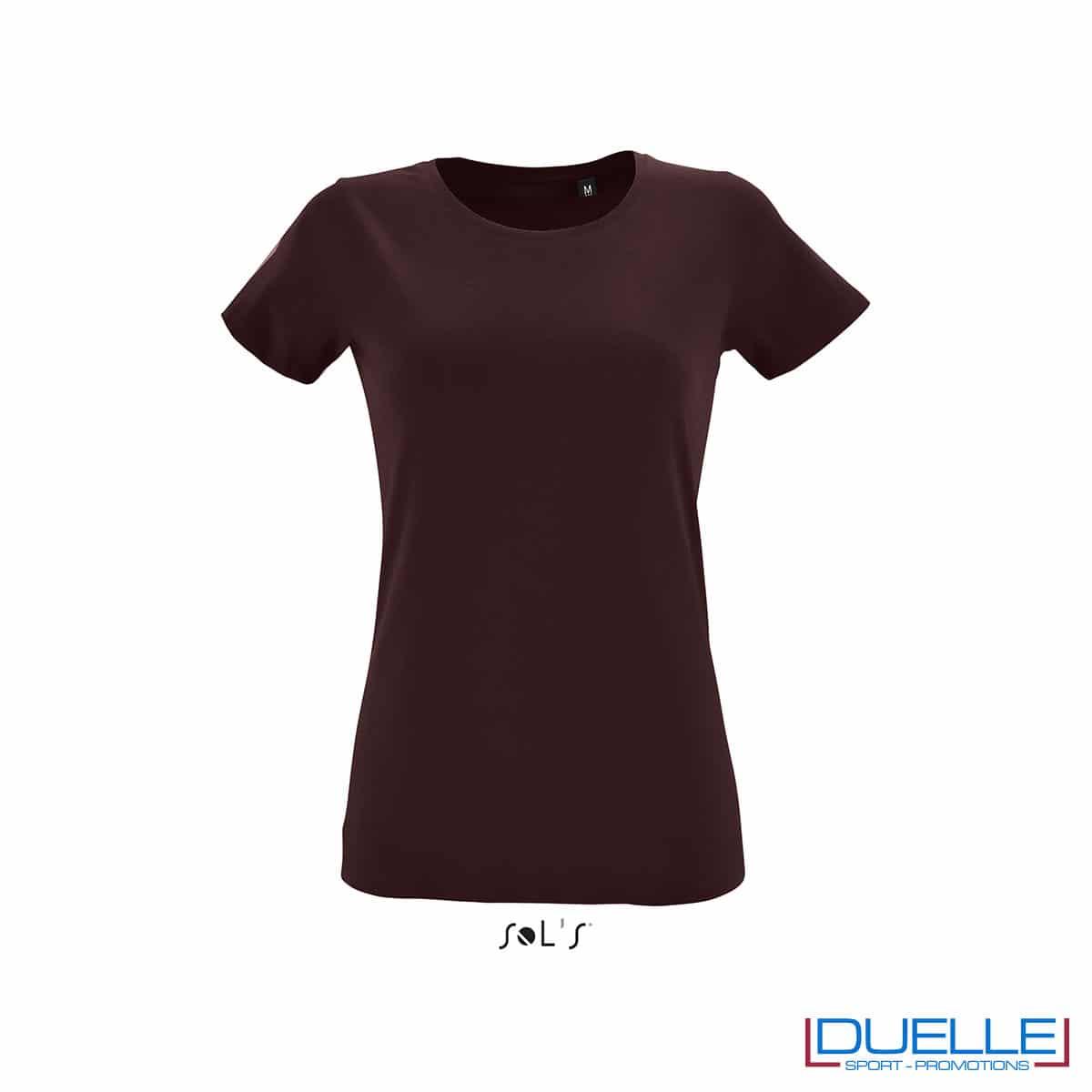 maglietta donna rosso borgogna fitness