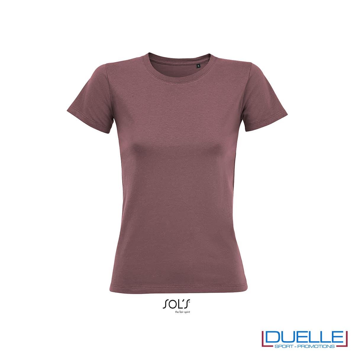 maglietta donna fitness rosa antico
