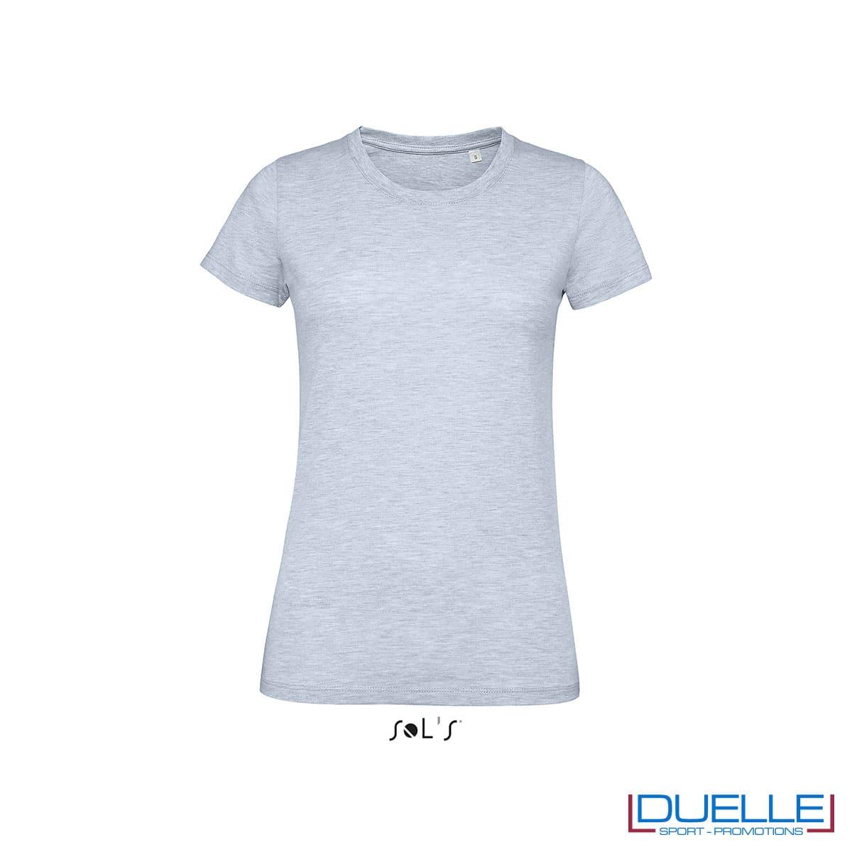 maglietta celeste slim fit donna