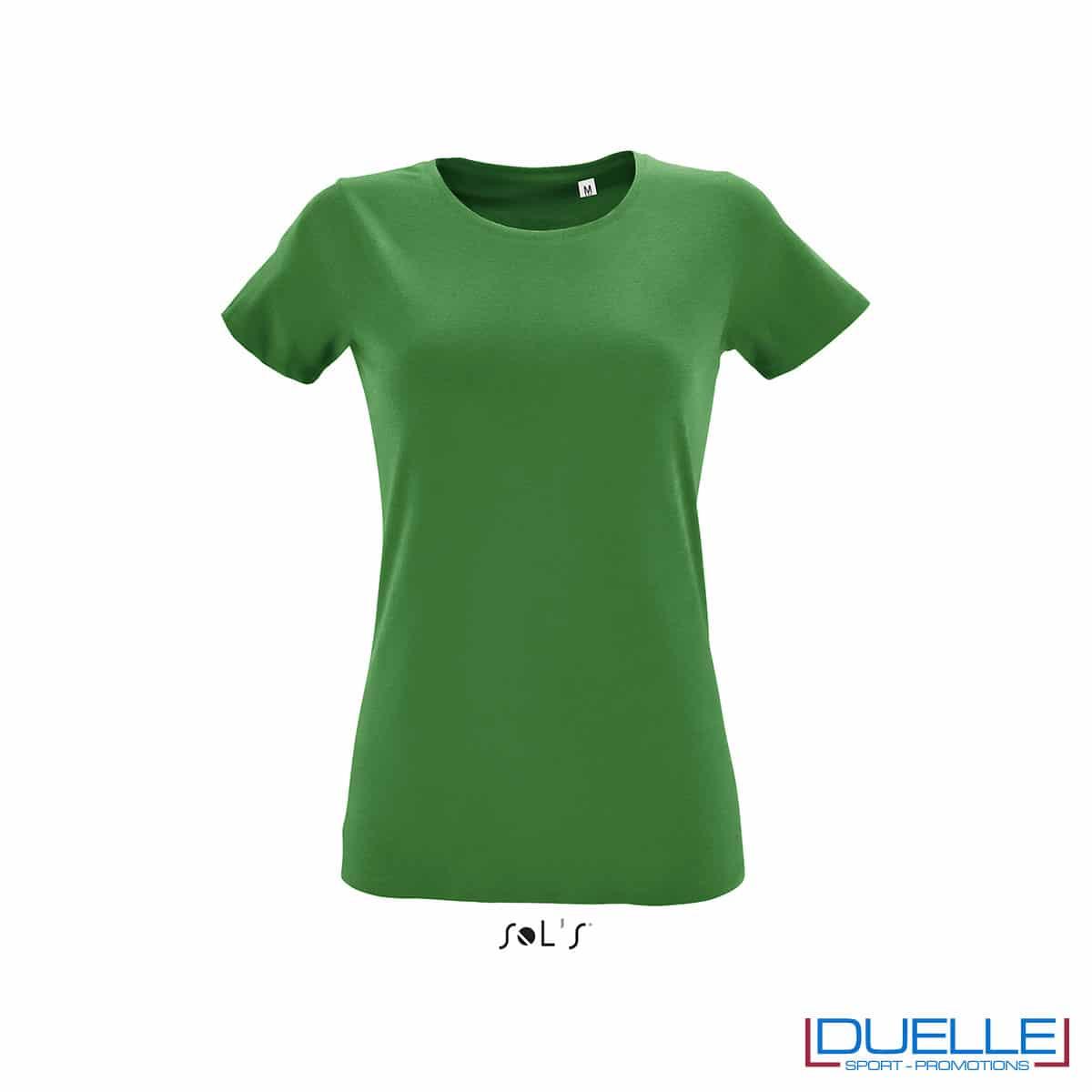 maglietta verde slim fit donna
