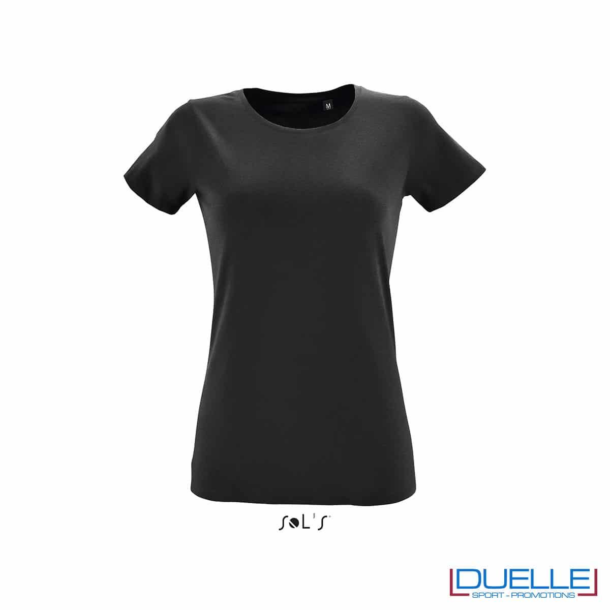 maglietta nera donna slim fit