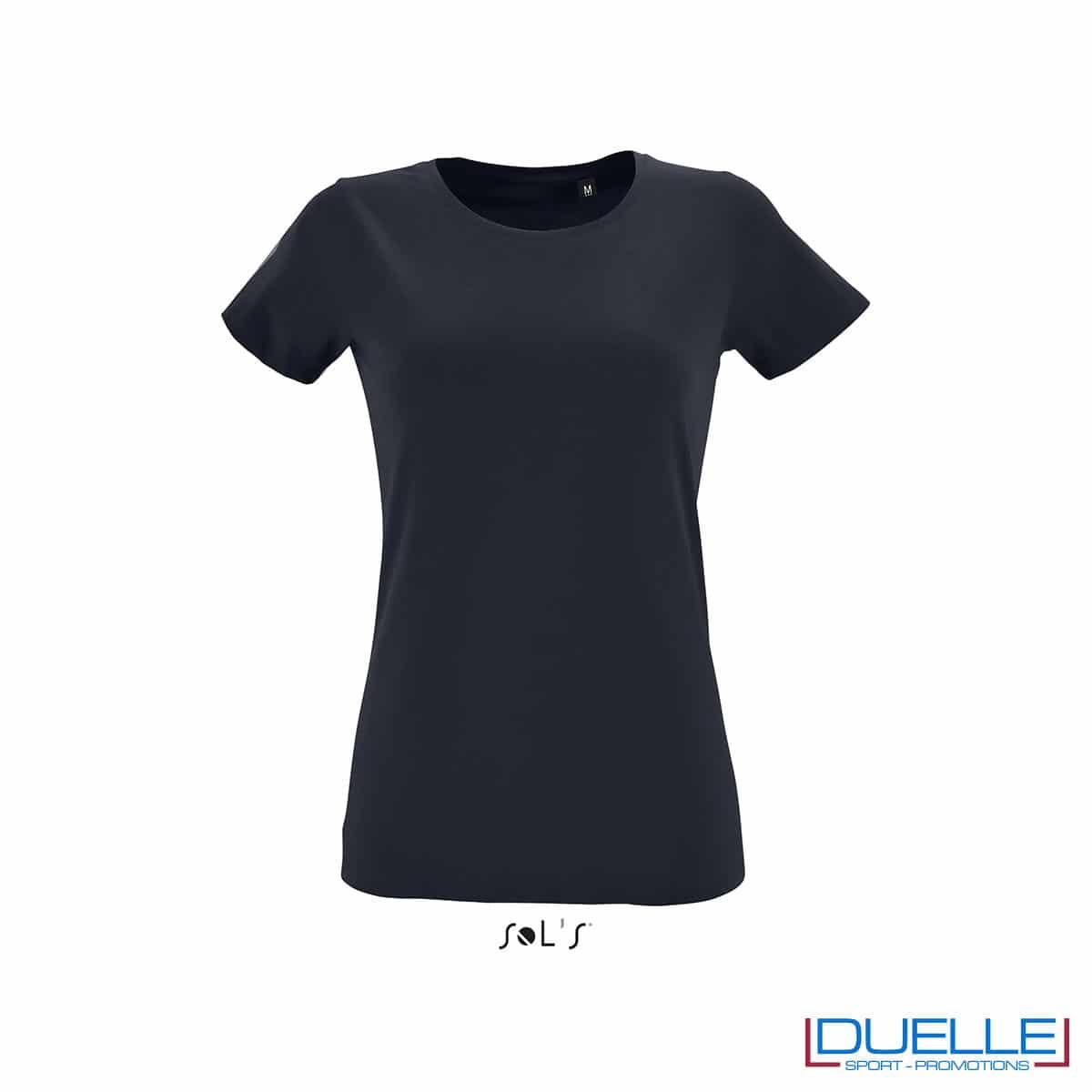 maglietta donna blu oltremare slim fit