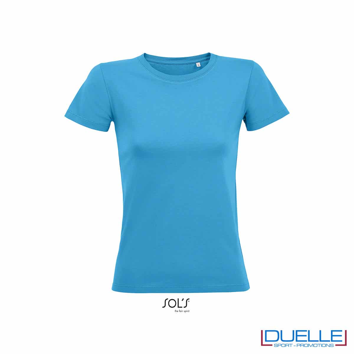 maglietta azzurro fitness donna fitness