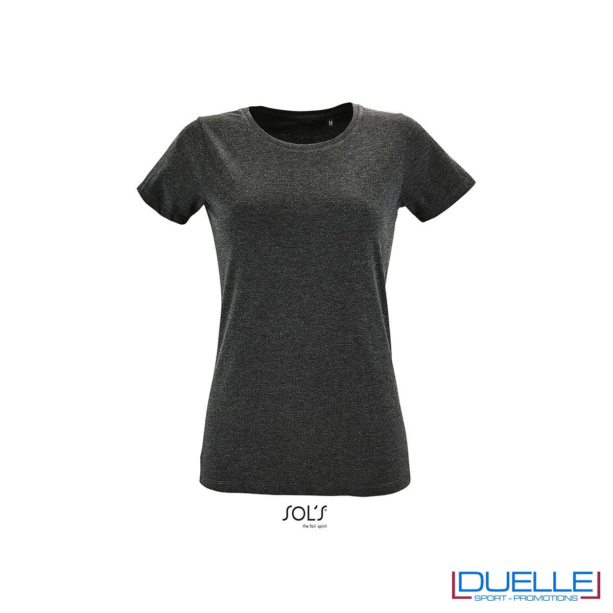 maglietta antracite slim fit donna