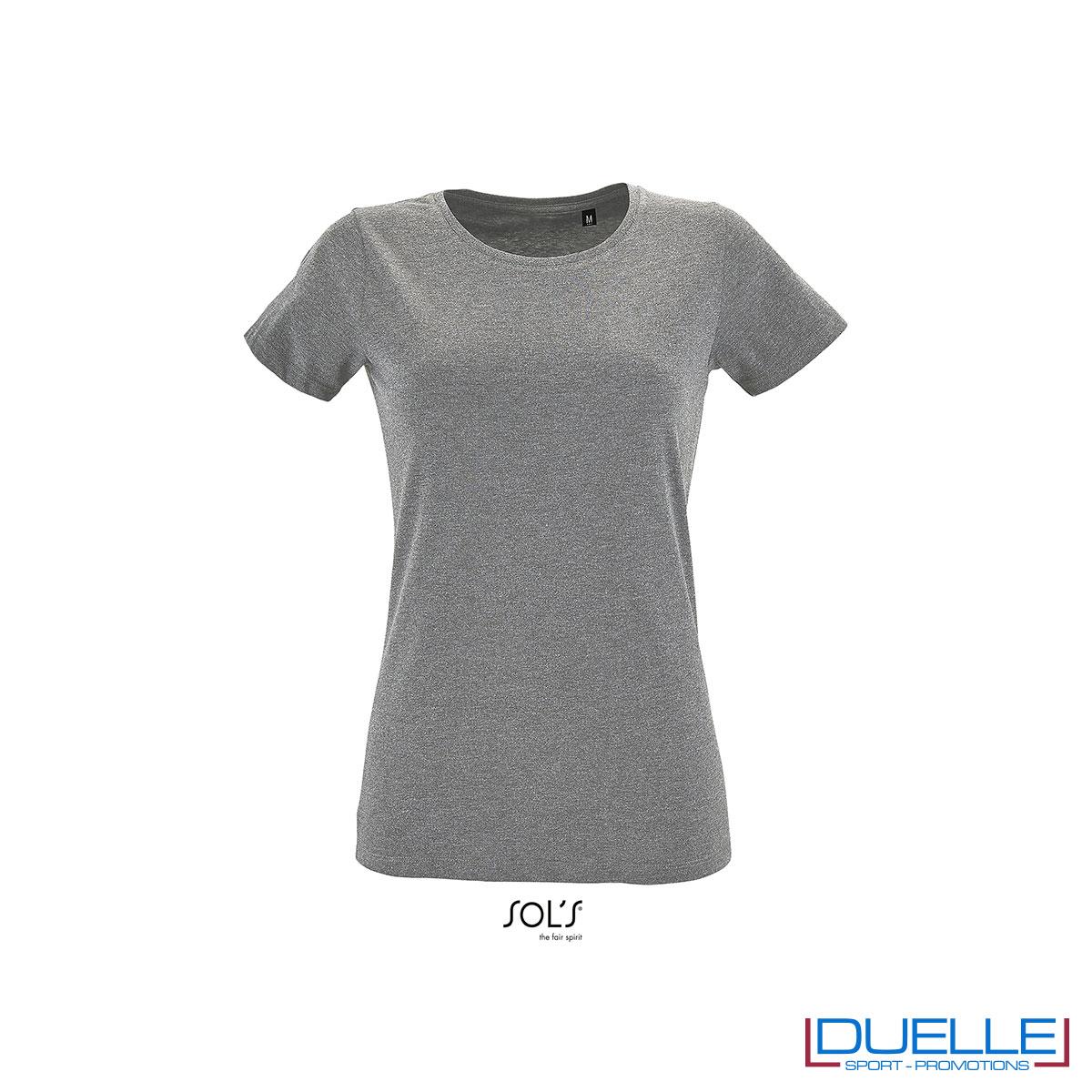 maglietta femminile grigio melange fitness