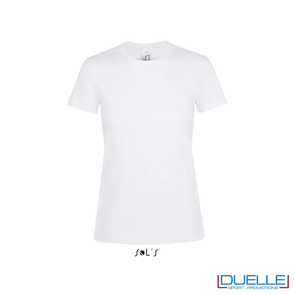 T-shirt personalizzata donna in cotone bianca