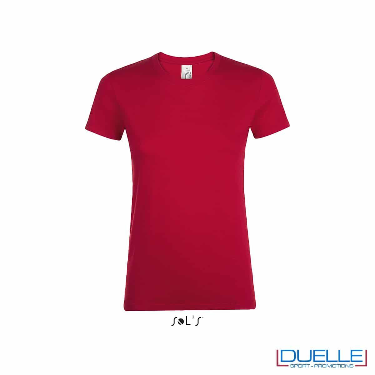 Magliette donna personalizzate con stampe colore rosso