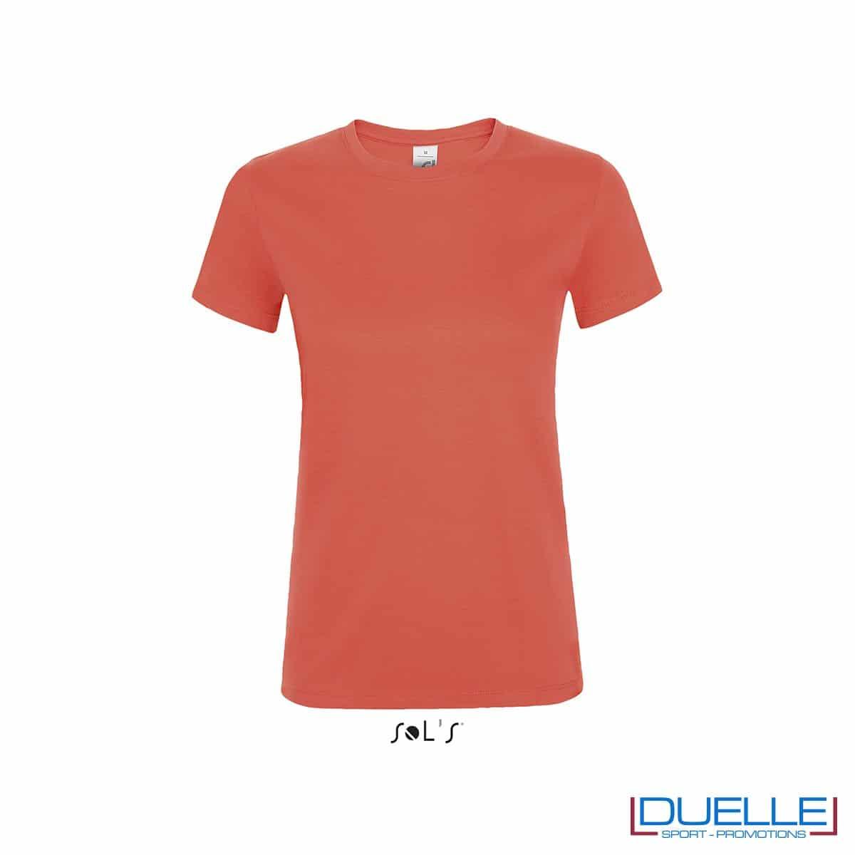 tshirt promozionale da donna in colore corallo