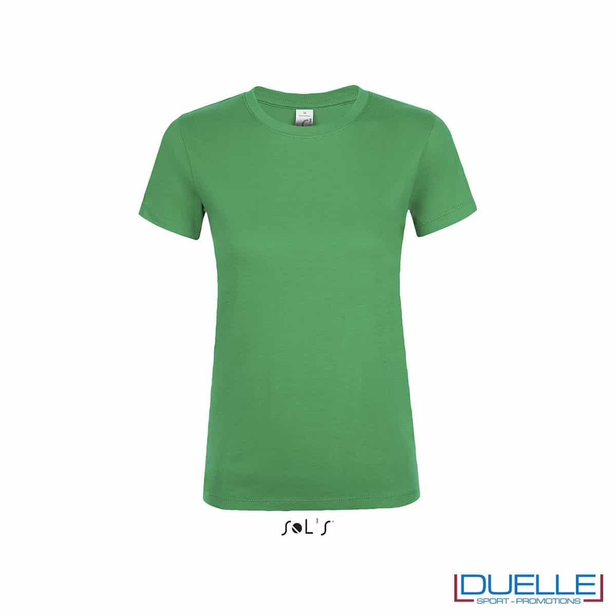 Tshirt donna personalizzata colore verde prato