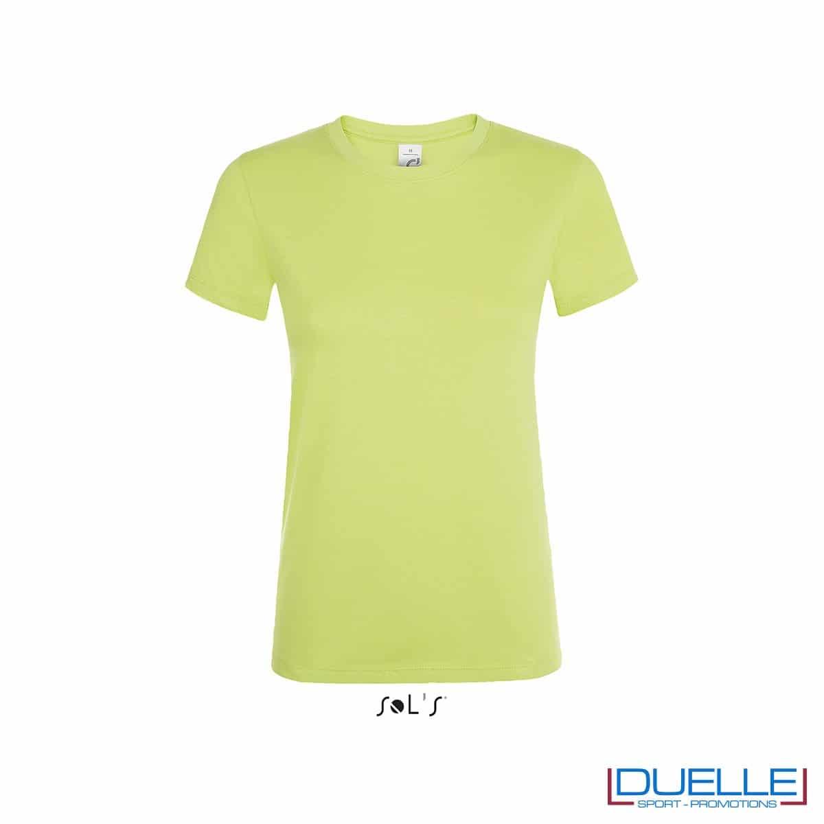 T-shirt personalizzata donna in cotone verde mela