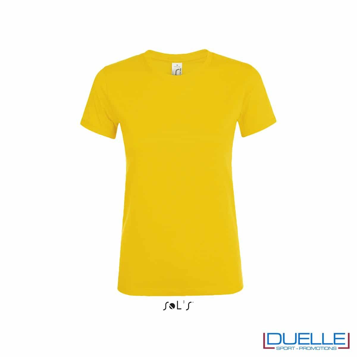 T-shirt donna personalizzata colore giallo