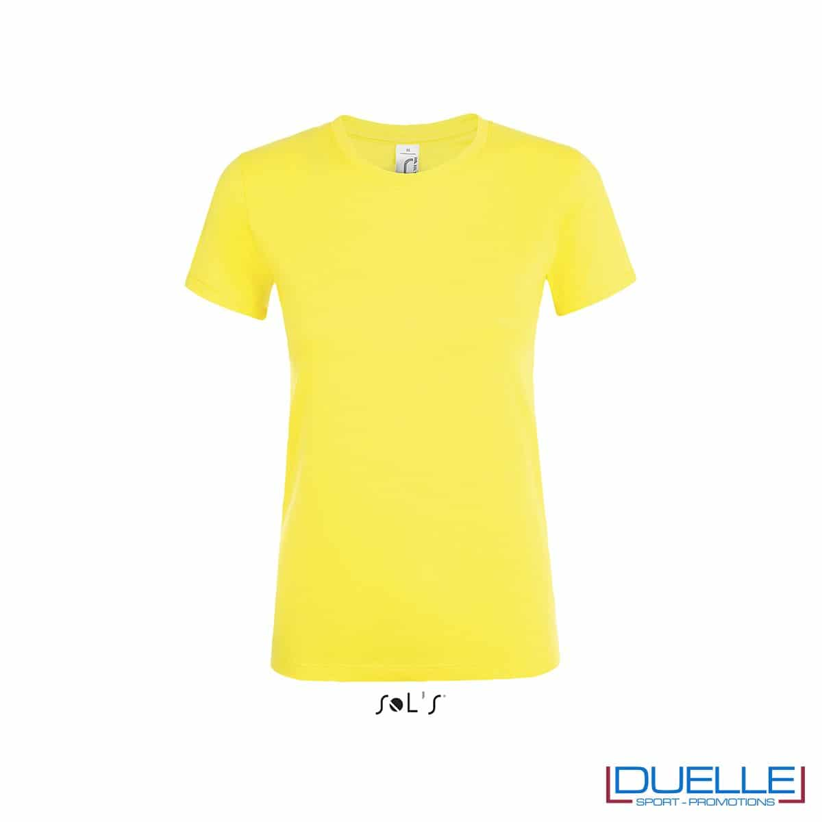 Maglietta donna personalizzata colore giallo limone