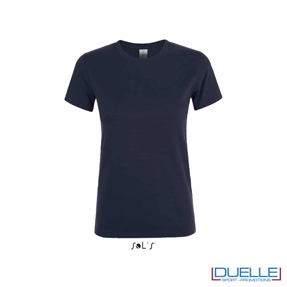 Magliette donna personalizzate colore blu navy