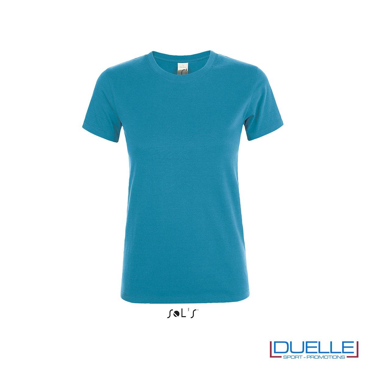 maglietta da donna in colore acqua personalizzata