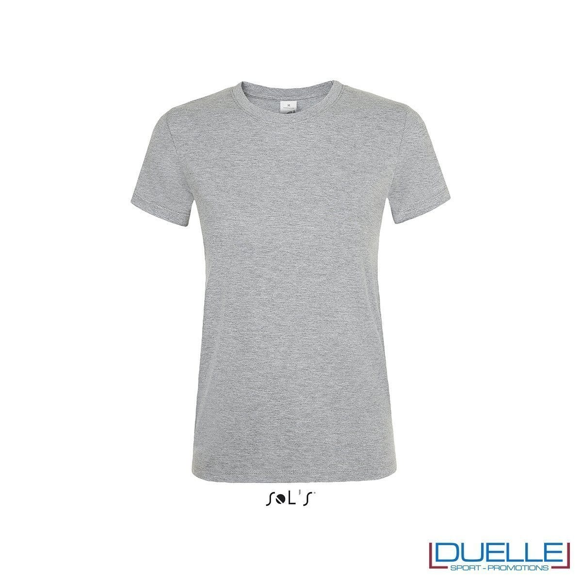 T-shirt donna personalizzata colore grigio melange