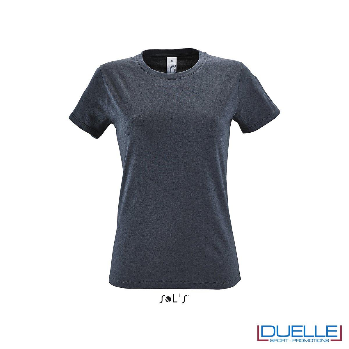 Magliette donna personalizzate colore grigio topo