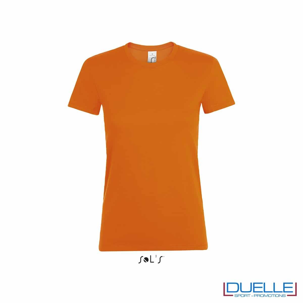 Magliette donna personalizzate colore arancione
