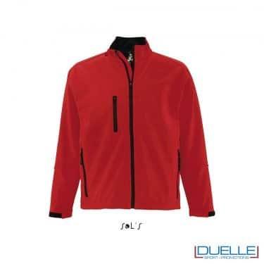 Giacche softshell personalizzate colore rosso