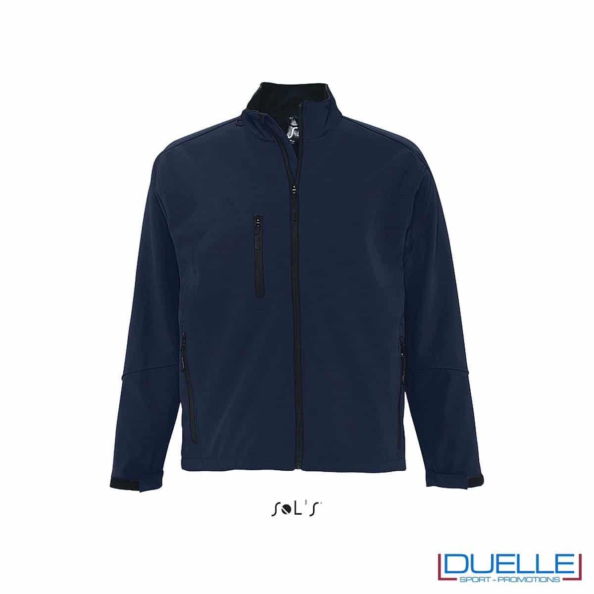 Giacca softshell personalizzata colore blu