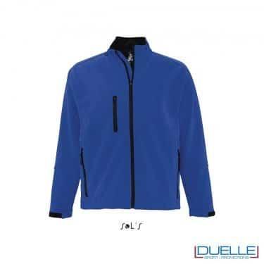 Giacca waterproof softshell personalizzata colore blu royal