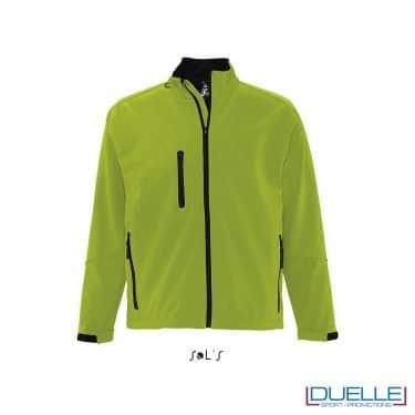 Giacca softshell personalizzata colore verde