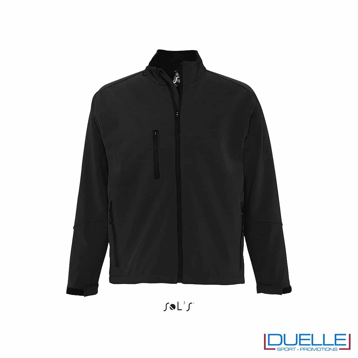 Giacca personalizzata softshell colore nero