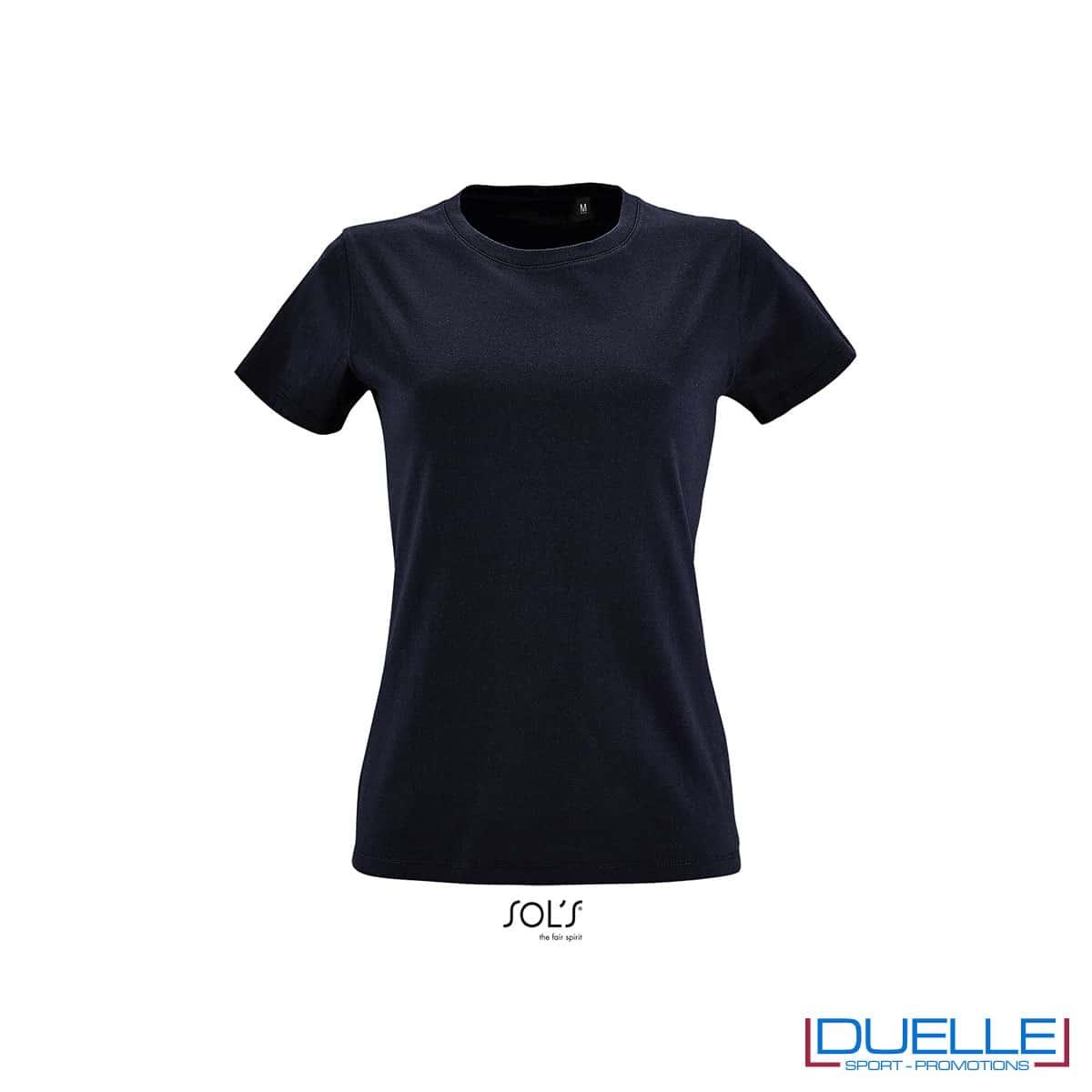 maglietta donna fit blu oltremare