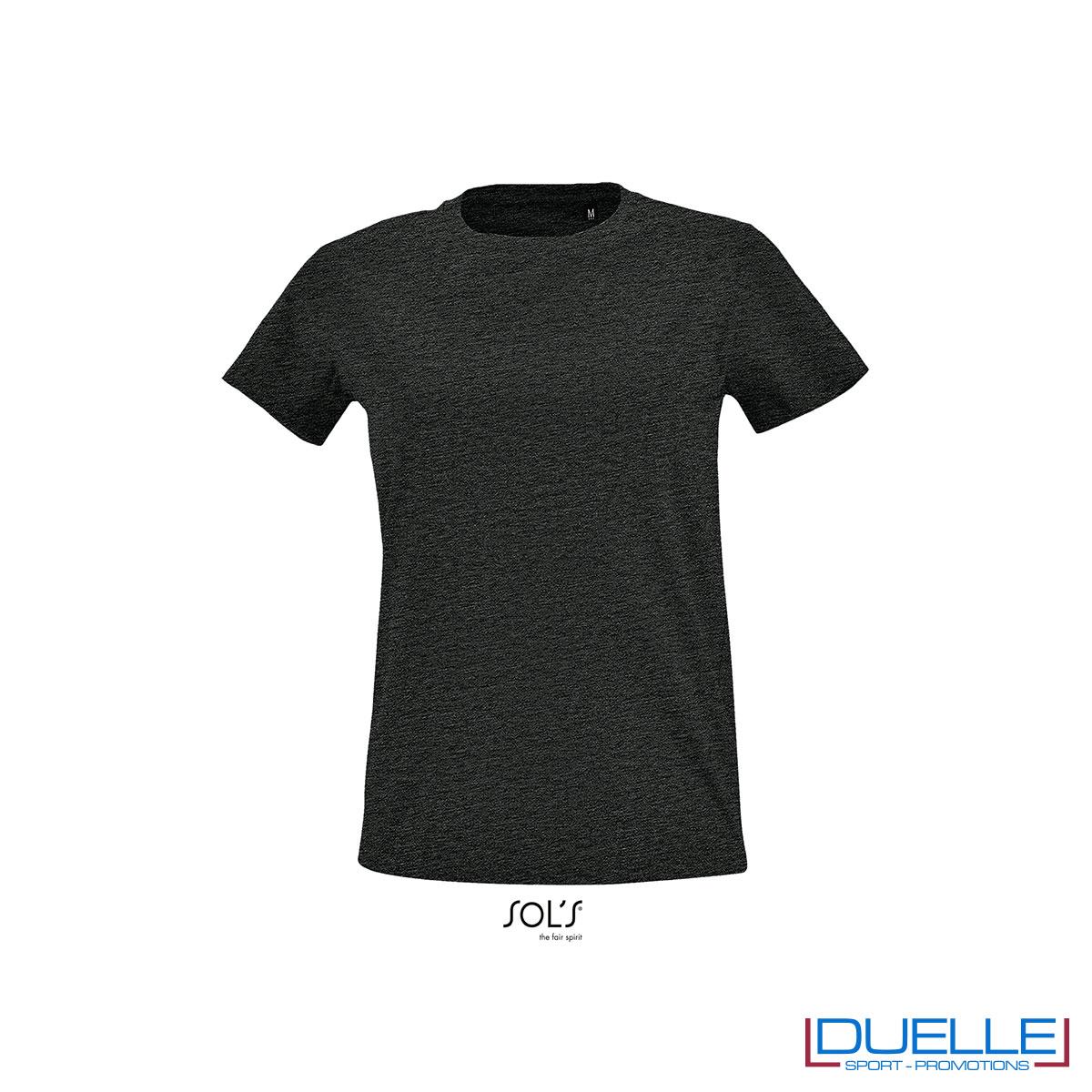 maglietta fit antracite donna