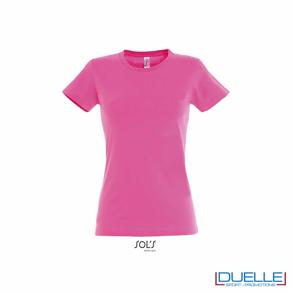 maglietta rosa girocollo femminile