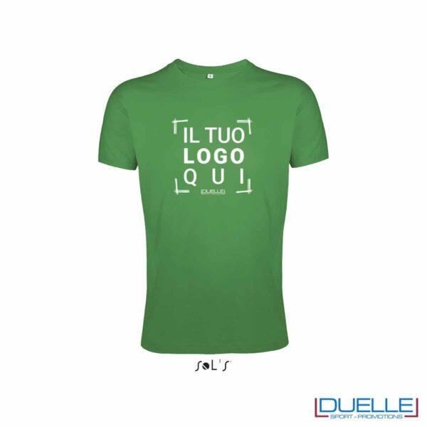 T-shirt uomo personalizzata slim-fit girocollo colore verde prato