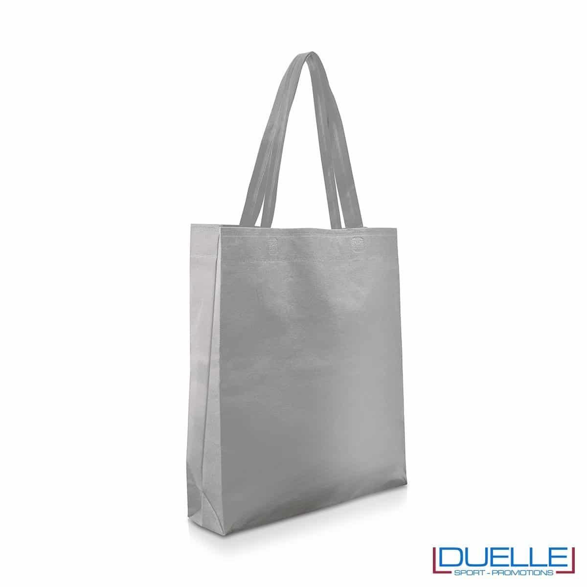 Shopper economica personalizzabile in TNT colore grigio